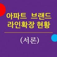주요 아파트브랜드의 라인확장 현황. 서론