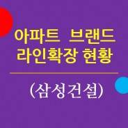 주요 아파트브랜드의 라인확장 현황 1. 삼성건설 / 래미안