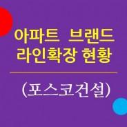 주요 아파트브랜드의 라인확장 현황 3. 포스코건설 / 더샵