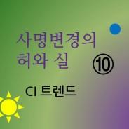 사명변경의 허와 실 10 (CI트렌드, CI개발)